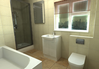 Example bathroom design