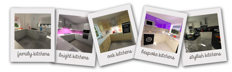A sample of some kitchen designs we have created for our clients using our 3D software