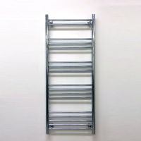 Basic Chrome Straight Towel Radiator 1200 x 500mm