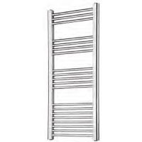 Wendover Chrome Straight Multi Rail Towel Radiator 1200mm x 400mm
