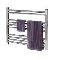 Wendover Chrome Straight Multi Rail Towel Radiator 600mm x 300mm