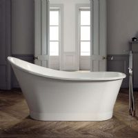 Canna 1600 x 730 single ended free standing bath by Ramsden and Mosley