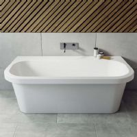 Jersey 1700 x 875 Back To Wall Bath Double Ended bath by Ramsden and Mosley