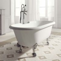 Rona 1750 x 800 Gloss Double Ended Roll Top bath by Ramsden and Mosley